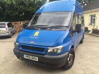 2001 Ford Transit 6 seater +2 wheelchairs bus
