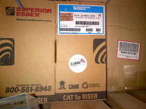 Superior Essex Cat 5 Blue Computer Data Communication Wire 200