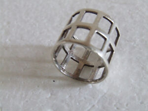 Sterling Silver stamped ring Size 8 London Ontario image 5
