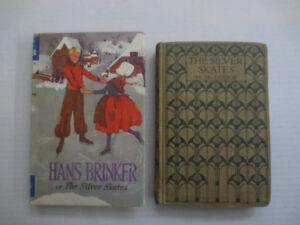 Hans Brinker Silver Skates Dodge 2 Vintage Kids Hardcover Books