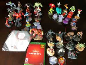 38 DISNEY INFINITY FIGURES, POWER DISCS, 3.0 XBOX ONE GAME