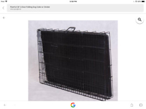 Collapsible two door dividable  dog crate