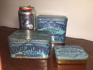 3 Edgeworth Tobacco Tins