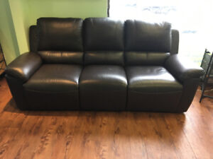3 seaters reclining leather