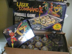1980's Ideal Lazer Command Pinball Game in Box