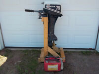 7.5 Honda 4 Stroke outboard Long Shaft