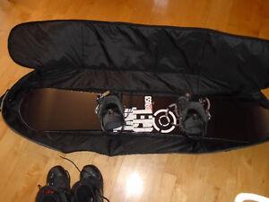 Planche, Bottes et sac