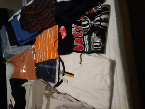 Ties, dress, formal, jeans pants, shorts, shirts,blazers, suite