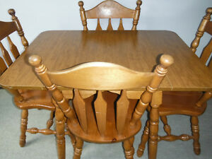 Drop Leaf Dining Room Table and 4 Chairs, Delivered