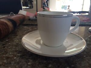 Flat demitasse cup and saucer set of 10