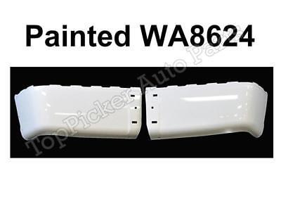 NEW Painted Summit White WA8624 Rear Bumper End Set For 07-14 Silverado W/O Hole