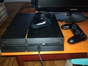 Console Playstation 4 de 500gb + 8 Jeux + 2 Manettes