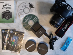 Canon EOS Rebel T2i body with 18-55mm f/3.5-5.6 IS lens