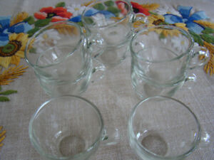 8 Glass Espresso Cups or Punch Glasses