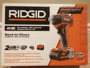 Rigid 18V Brushless Impact Driver - BRAND NEW