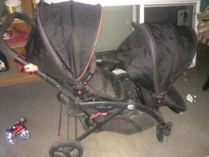 Contour double stroller