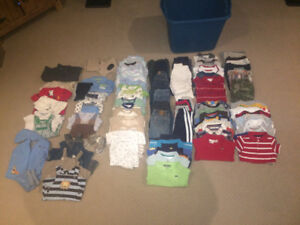 Boys Clothes: 6-9 months old lot (102 items)