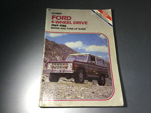 1969-86 U14 U15 Ford Bronco F100 F-150 F250 F350 4x4 Shop Manual