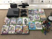 XBOX 360 + 2 Controllers + Kinect + 16 Games (Sold)