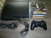 160 GB Slim PS3 Bundle with 9 Games