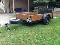 5by8ft. Heavy duty utility trailer