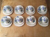Blue and White Floral Vintage Tea Set