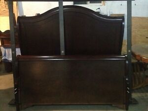 Sleigh bed frame pocket coil mattress
