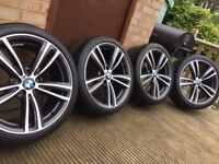 "Genuine BMW 3 4 Series 19"" 442 M Sport Alloy Wheels & Tyres F30 F31 F32 F33 F34 F36 E90 E92 Z4 Orbit"