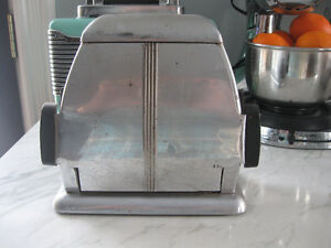 Antique Chrome Reliance Art Deco Toaster