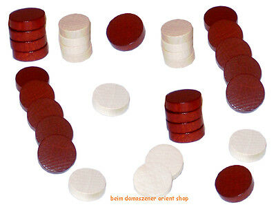 Holz Spielsteine Backgammonsteine f. Backgammon Backgammonspiel 2,1 2,3 3,1 cm