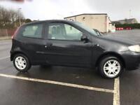 Fiat Punto 1.2 8v Active BLACK 45K MILES WARRANTY 12 MONTHS MOT