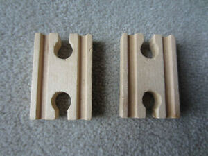 """WOODEN TRAIN TRACK - 2 PIECES - 2 1/4"""" FEMALE"""