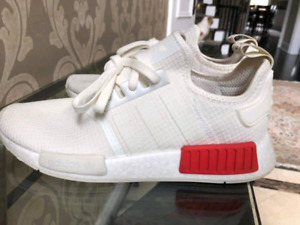 Nmd white lush red size 9