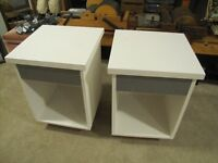 2 Wood  End stands $30.00 for both