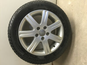 Used Audi Mag Rims and Winter Michelin X-ICE tires for sale.