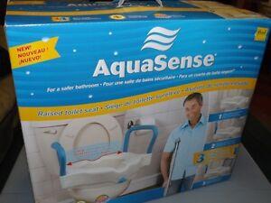 3-in-1 Raised Toilet Seat by AquaSense (NEW/Unused)