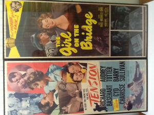 Film Noir 1949 Tension and 1951 The Girl on the Bridge Posters