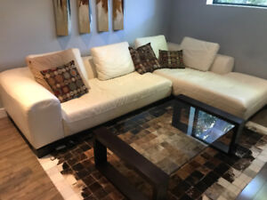 Couch, Tables, Rug