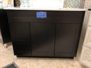 Extra 10% OFF!! Clearance Espresso solid wood vanity!!