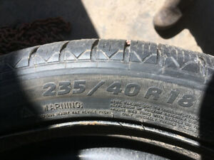 235/40R/18 Michelin winter tires