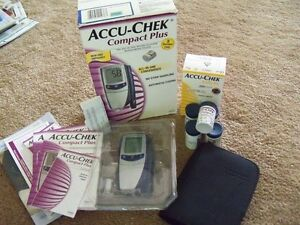 Diabetes Glucose Tester Machine w/strips and lancets, new in box