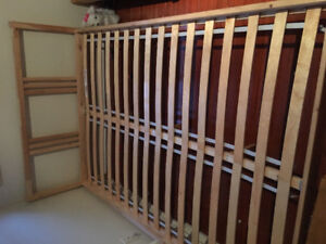 Full/double wooden bed frame - excellent condition