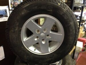 (4) 17 INCH JEEP TJ/wrangler Wheels and Goodyear wrangler Tires