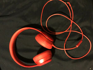 Beats solo 2 wired headphones red
