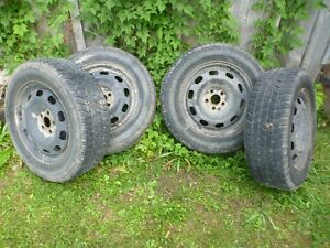 Used snow tires on winter rims