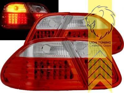LED Rückleuchten Heckleuchten für Mercedes Benz CLK W208 Coupe Cabrio rot weiss