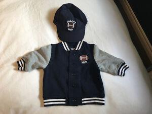Gymboree Football Jacket & Matching ball hat 3-6 months