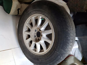 Set of rims  and tires ford windstar van