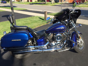 2009 Yamaha V-Star 1100-Blue Beauty
