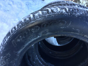 Winter tires 205 60 16 , 2 Hankook Ipikes, 2 Yokohamas, 90$